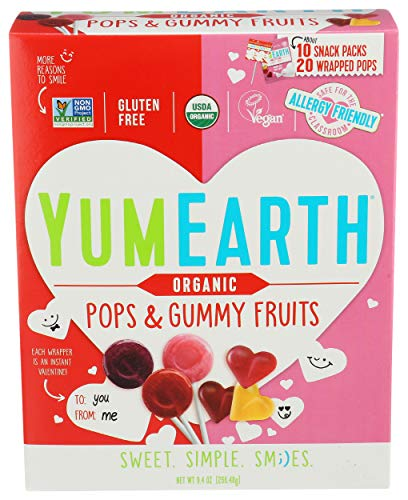 Yumearth Candy Assorted Gummies Lollipops Valentines 938 Ounce