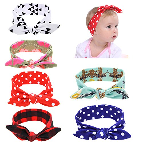 inSowni 6 Pack Boutique Christmas Thanksgiving Fruit Knotted Stretchy Bandana Turban Bow Headbands for Baby Girls Toddlers Infants Kids (6PCS S4)