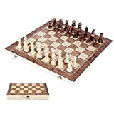 3 IN 1 Wooden Chess Checkers Backgammon Game Travel Draughts Set