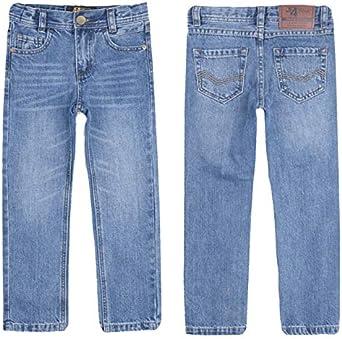 color carb/ón justfound4u Pantalones vaqueros de dise/ñador para ni/ños cintura ajustable negro para ni/ños de 2 a 3 a 4 5 6 7 8 9 10 11 12 13 14 15 16 a/ños el/ásticos azul y gris