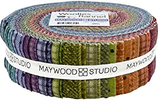 Flannel Jelly Roll Woolies Colors Flannel by Bonnie Sullivan Plaid 2.5