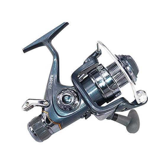 Carretes Carretes de pesca Freno doble delantero y trasero Pescador Carrete de pesca rentable 1 BB Carrete de aluminio ultra liso de bajura para agua salada o agua dulce Carrete de pesca rápida (tamañ