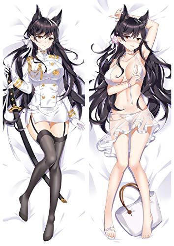 Tamengi Funda de almohada de algodón de doble cara con personajes de anime, funda de cojín para el sofá del hogar, 50,8 x 149,9 cm