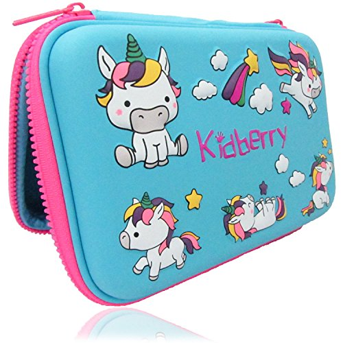 Pencil case for Kids, Kidberry Pencil case for Kids,Pencil Pouch, Girls Pencil case for School, Cute Unicorn 3D Design Pencil Box, Cute Pencil Pouch