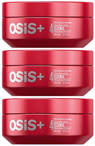 Schwarzkopf Osis+ Flexwax Ultra Strong Cream Wax - 2.8 fl. oz. / 85 ml (Set of 3) by Schwarzkopf Professional