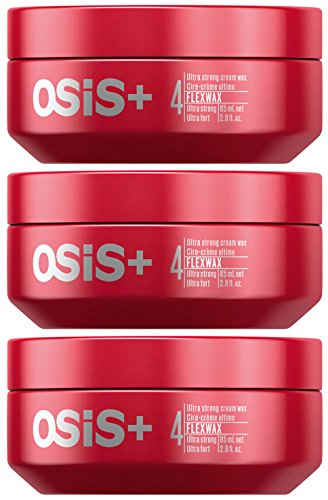 Schwarzkopf Osis+ Flexwax Ultra Strong Cream Wax - 2.8 fl. oz. / 85 ml (Set of 3) by Schwarzkopf Professional