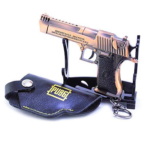BYWL 1/6 Metal Desierto Águila Ristol Pistola Aleación Arma de Acción Figura Artes Llavero Modelo de Regalo de Juguete Prop Colgante Decoración
