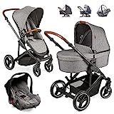 ABC Design Kinderwagen Set 3in1 Catania 4 mit Babyschale, Wanne und...