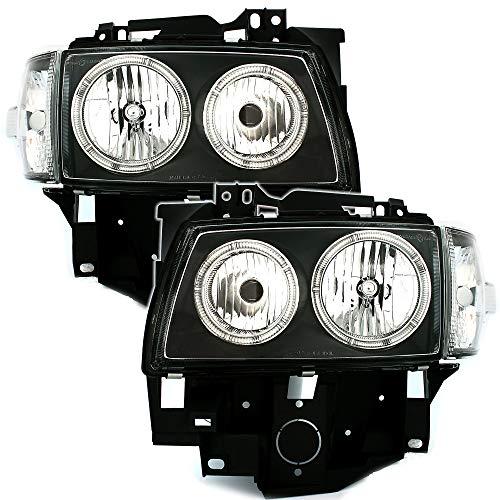 AD Tuning GmbH & Co. KG 960418 Lot de phares Angel Eyes en Verre Transparent Noir