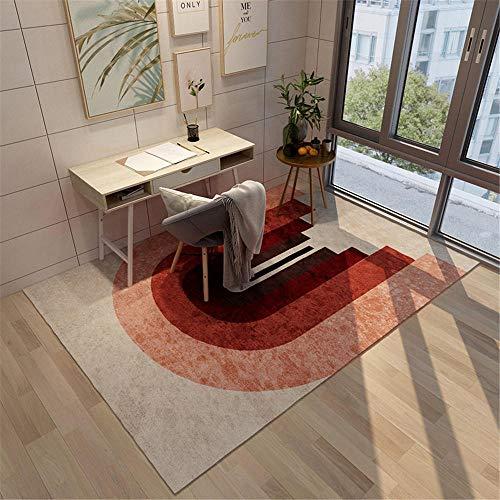 alfombras grandes alfombra juvenil dormitorio Alfombra sala de estar rojo marrón antideslizante, a prueba de humedad y decoración de dormitorio resistente al desgaste alfombra lavable 180X280CM 5ft 10