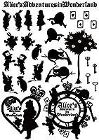不思議の国のアリス シール ラベル 28枚 A4 (透明)