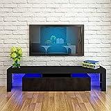160 cm LED gabinete del gabinete del gabinete de la unidad moderna TV Mesa resaltado LED Muebles de sala de estar Muebles TV Gabinete,A