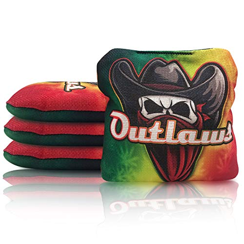 Local Bags New 2021 PRO Cornhole - Outlaw Series - Set of 4 Bags- ACL PRO Double Sided Professional Bags - Slow Side/Go Side Made in USA