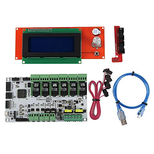 Moligh doll 3D Printer Accessories, RUMBA32 Motherboard + 2004LCD Liquid Crystal Display Kit