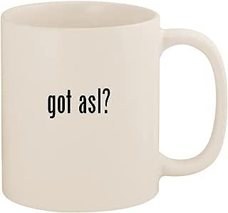 got asl? - 11oz Ceramic White Coffee Mug Cup, White