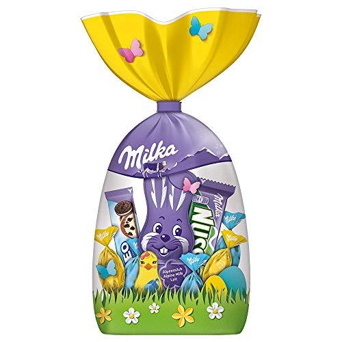 Milka Große Oster-Mischung – Neues Design & neuer Inhalt – Mix aus beliebten zartschmelzenden Milka Osterprodukten – 205g