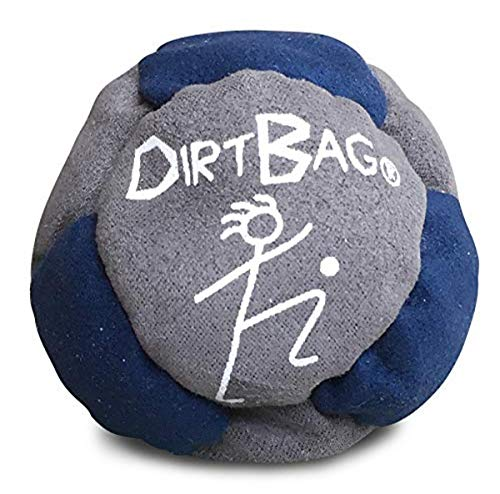 World Footbag Dirtbag Hacky Sack Footbag, Navy/Grey