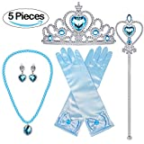 ❆Princess Dress up Accessories Set Includes: a Pair(2) of Gloves, a Tiara/Crown, a Scepter, a pair of Earrings, a Necklace and one glue stick. Recommended ages for the gloves: 3-8 years old. ❆Glue Stick: We do offer a glue stick which help you glue b...