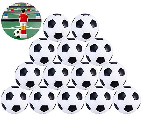 Liuer Futbolín Bolas Foosball 14PCS Reemplazos de Pelotas de fútbol DE 32 mm 36mm Mini Negro Blanco Foosball de Mesa Tamaño Estándar Balones de Fútbol ABS Plástico para Juego de Juguete Infantil