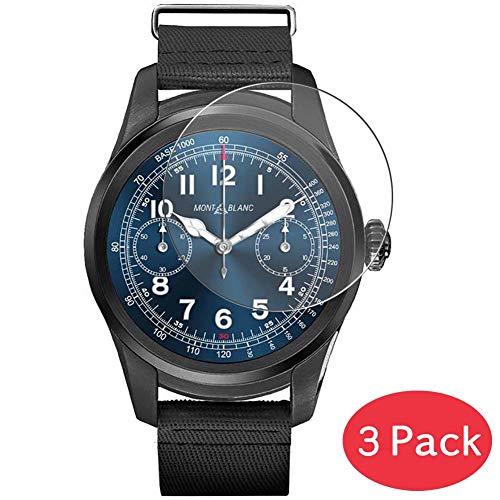Vaxson 3 Stück 9H Panzerglasfolie kompatibel mit MONTBLANC Summit Panzerglas Schutzfolie Displayschutzfolie Bildschirmschutz Intelligente Uhr Armband Smartwatch