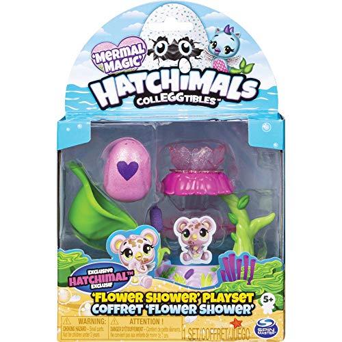 Hatchimals CollEGGtibles Spielset Blumendusche, mit exklusiver CollEGGtibles Mermal Magic Sammelfigur
