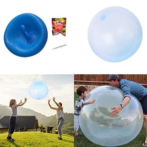 eginvic Wasserball Bubble Dickes Weiches Ball Spielzeug Transparenter Weichgummiball Wasserball Bubble Für Aktivitäten Im Freien Innen Für Kinder Beach Party(Blau/120cm)