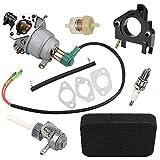 Harbot GP5000 Carburetor for Generac Centurion 5944 0055770 005577-1 005578-0 389CC 5000 6250 Watt Generator with Air Filter Tune Up Kit