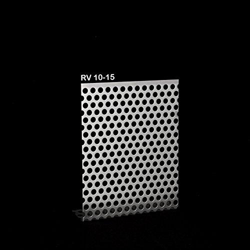 Lochblech Edelstahl QG 10-15 beidseitig geschliffen/Alu RV 5-8 / Stahl Verzinkt QG 10-15 / Stahl Verzinkt RV 5-8 - 1,5mm dick Zuschnitt individuell auf Maß NEU (1000 mm x 150 mm, EDELSTAHL RV 10-15)