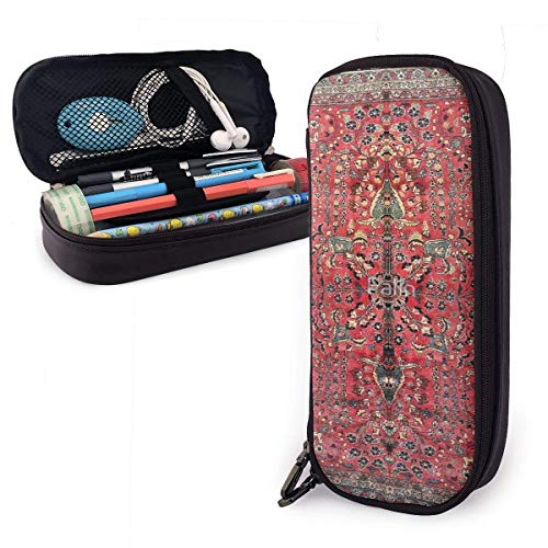 Alfombra roja persa antigua Estuche para lápices Estuche para lápices de gran...