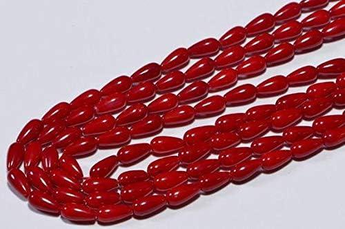 Daily bargain sale LOVEKUSH LKBEADS Coral Red 8.3x4mm Teardrop Outstanding CoralLKBEADS J Beads