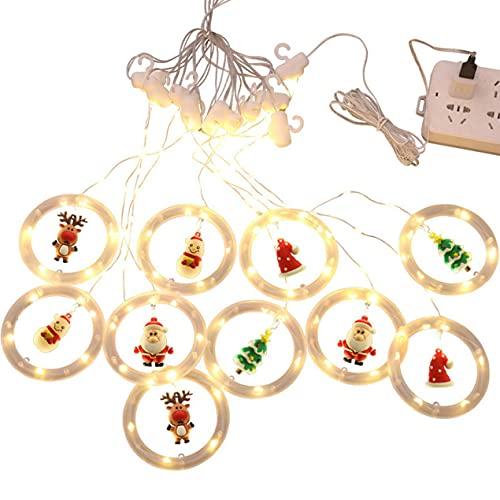bansd Cadena de Luces LED navideñas Luces de Cadena navideñas Luces de Modelado de Dibujos Animados navideños Decoración de la habitación Cadena de Luces