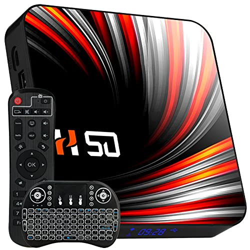 Android 10.0 TV Box【4G+64G】 Android TV Box RK3318 Quadcore Cortex-A53 Smart TV Box 3D / 4K Full HD/H.265 / USB3.0 Android Smart TV Box Streaming Media Player