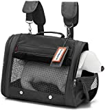 Prefer Pets Hideaway Pet Airline Approved Travel Carrier Duffel Bag & Backpack Helps Reduce Pet's...