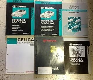 2000 TOYOTA CELICA Service Shop Repair Manual Set OEM 6 SIX BOOKS TOTAL HUGE OEM