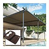 YJSMB Toldo Sombra, Malla Sombra Exterior Patio Jardín Yarda Pérgola Bloque UV Proteccion Solar Cortavientos Cubrir (Size : 1.5x3m/4.9x9.8ft)