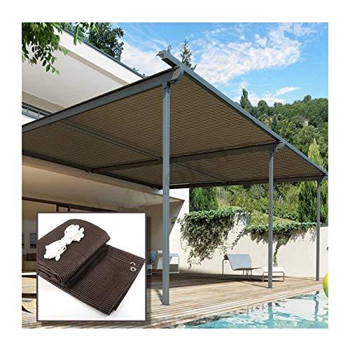 YJSMB Toldo Sombra, Malla Sombra Exterior Patio Jardín Yarda Pérgola Bloque UV Proteccion Solar Cortavientos Cubrir (Size : 6x6m/19.6x19.6ft)