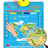 Interactive World Map for Kids - Set of 5 Electronic Talking Posters with Over 1000 Facts
