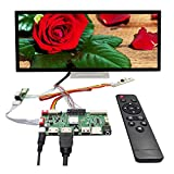 VSDISPLAY 12.3' 12.3 Inch 1920X720 IPS LCD Screen HSD123KPW1-A30/HSD123KPW2-D10 with HD-MI USB SD AV LCD Controller Board VS-56S2 with Protective Glass, Multimedia Supports MP4