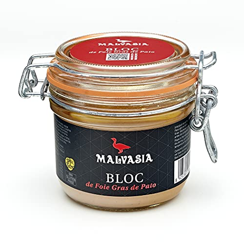 MALVASIA Bloc de Foie Gras de Pato, Bote de 180 g
