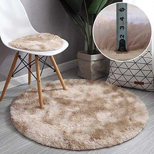 Effortsmy Alfombra suave de piel de oveja para dormitorio, diseño de flores, antideslizante, suave y de lana sintética, moderna