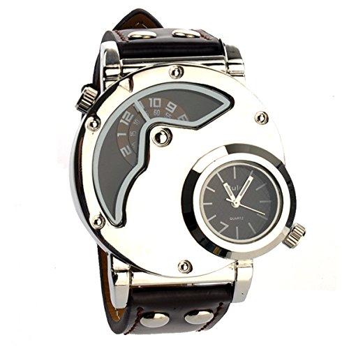 Pixnor Oulm 9591Sport Quartz Analog Armbanduhr Dualzeit Männer