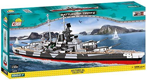 Cobi 4809 Battleship Tirpitz Navire de Guerre à Assembler- Multicolore