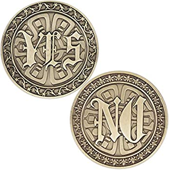 Strugglejewelry Novelty YES NO Challenge Coin Decision Maker Make Decisions and Answers in Life Easier  Bronze