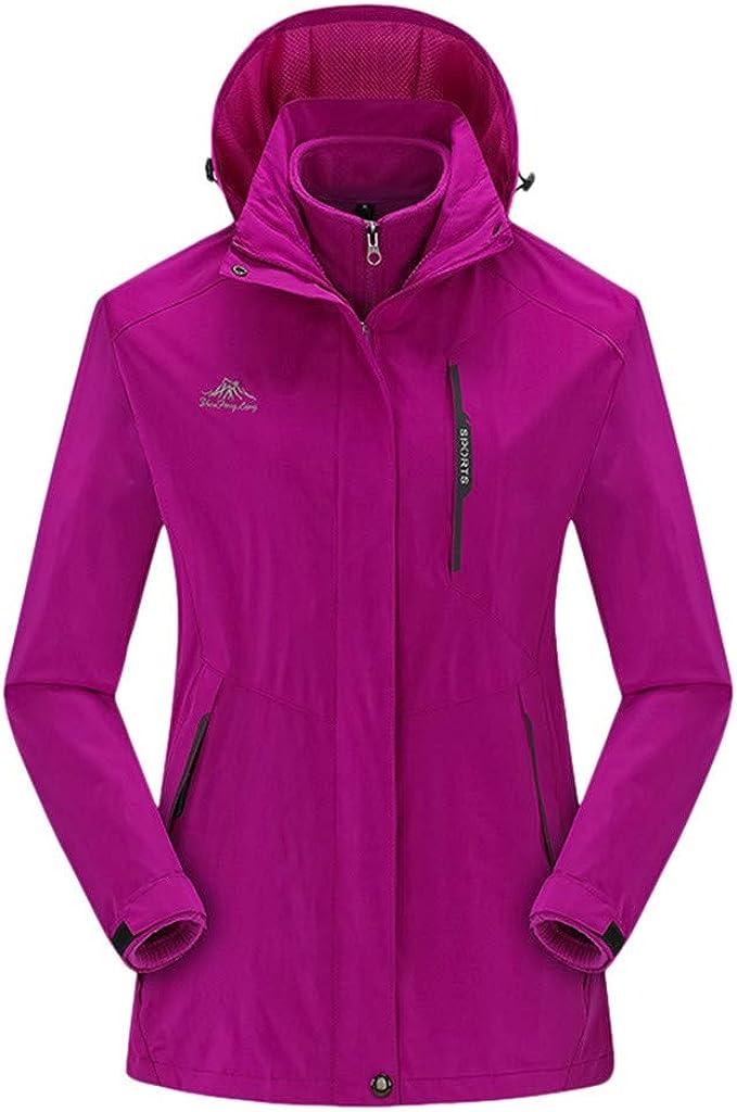 Misaky Women's Hooded Raincoat Outdoor Sport Waterproof Windproof Breathable Thicken Two-Piece Set Jacket