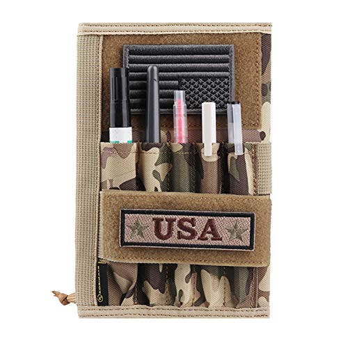 """Kosibate Military Notebook Cover, Tactical Leader Book Cover with Pen Holder, 8""""x5"""" (CP)"""