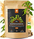 Holi Natural® Premium BIO Ashwagandha Root Powder - 500g - REAL Indian Withania Somnifera de cultivo orgánico certificado - en una bolsa biodegradable y resellable