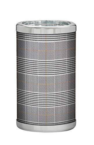 PLATEX 730050828 Bouteille Isotherme avec RECHARGES EUTECTIQUES-Bague CHROMEE - Walles, Plastique-Gel Tissu, Gris-Blanc, H22,5cm-Ø13cm