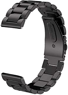 Samsung Gear S3 Band, Galaxy Watch (46mm) Band, 22MM Premium Solid Stainless Steel Watch Band Replacement Buckle Metal Str...