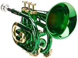 Roy Benson RB701008 - Trompeta Pocket, estuche ligero rectangular, color verde