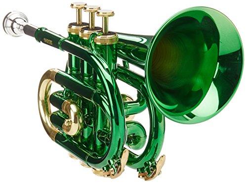Roy Benson RB701008 Bb Taschen-Trompete MOD.PT-101E grün lackiert, inkl. Etui